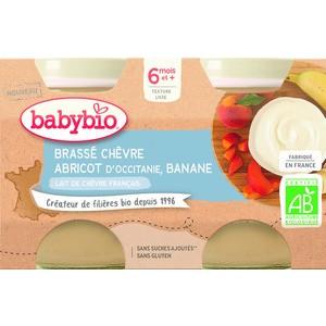 Pots brassés Chèvre Abricot Banane 2x130 g 6 mois+ 714803