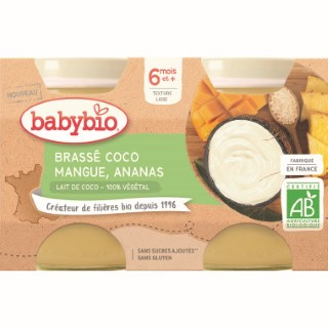Pots brassés Coco Mangue Ananas  2x130 g 6 mois+ 714805