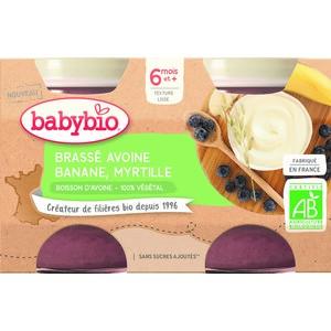 Pots brassés Avoine Banane Myrtille  2x130 g 6 mois+ 714806