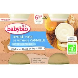 Pots brassés Poire Cannelle  2x130 g 6 mois+ 714808