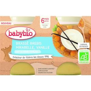 Pots brassés Brebis Mirabelle Vanille  2x130 g 6 mois+ 714809