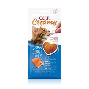 Régals creamy saumon et crevette Catit pour chat x 4 716005