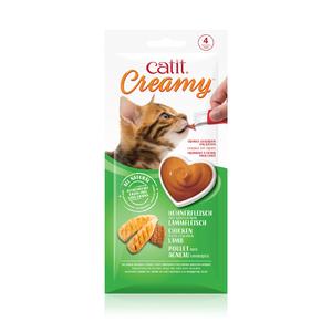 Régals creamy poulet et agneau Catit pour chat x 4 716007