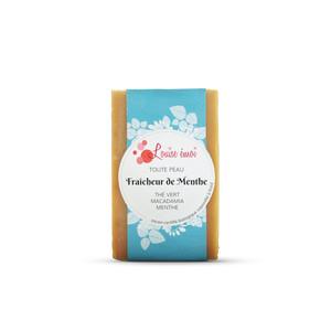 """Savon solide """"Fraîcheur de menthe"""" huile de macadamia menthe et thé vert - 100g 716038"""