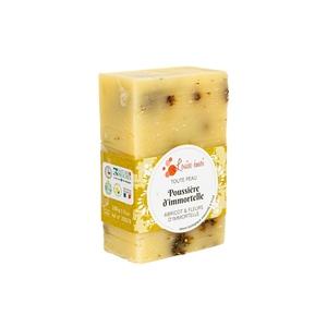 """Savon solide """"Poussière d'immortelle"""" huile de noyau d'abricot et ylang ylang - 100g 716046"""