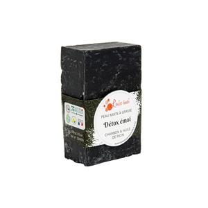 """Savon solide """"Détox émoi"""" huile de ricin et charbon - 100g 716048"""