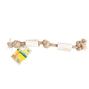 Os blanc avec corde 45 cm 716172