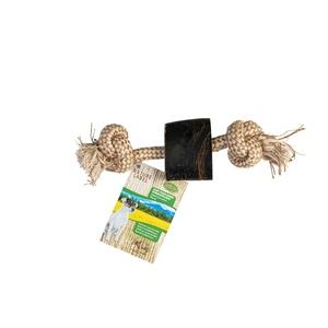 Corne marron avec corde 25 cm 716173