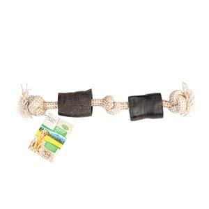 Corne marron avec corde 45 cm 716175