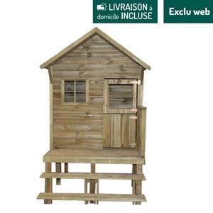 Maisonnette en bois sur pilotis Lena 194x126,4x217,5 cm 716413