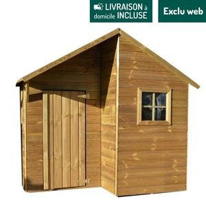 Maisonnette en bois Lucy avec plancher 161,8x159,4x167,5 cm 716414