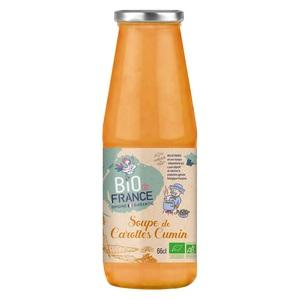 Soupe de carottes cumin bio. La bouteille de 66 cl 717430