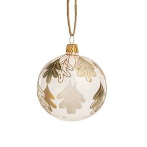 Boule décorative nature en verre transparent Ø7 cm 721010
