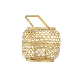 Lanterne ronde bambou Ø 24 x 27 cm 721816