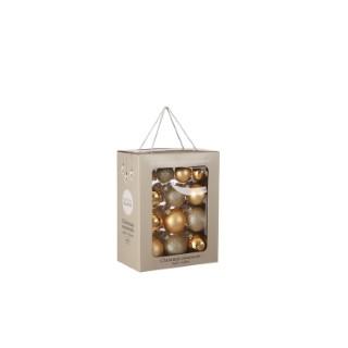 Pack boules dorées en verre x26 Ø7 cm 722488