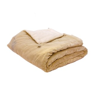 Plaid velours beige 170x130 cm 722625