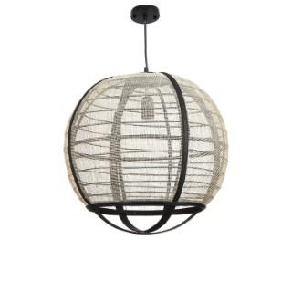 Lampe suspendue Pella écrue Ø 45 x H 43,5 cm 722946
