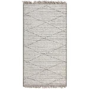 Tapis coloris neige en polypropylène Tweed Vivaraise – 60 x 110 cm 723062