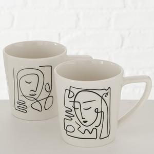 Mug Pica blanc en grès Ø8,7x12x9 cm 300 ml 723759