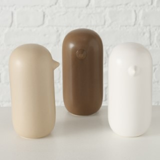 Figurine Aurelio en faïence beige brun ou blanc Ø8x15 cm 723774