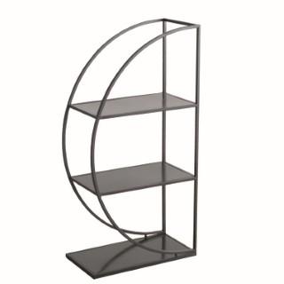 Étagère Tombo noire en métal 55x110 cm 723775