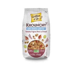 Céréales bio Krounchy figues raisins et noix du Brésil - 450 g 726985