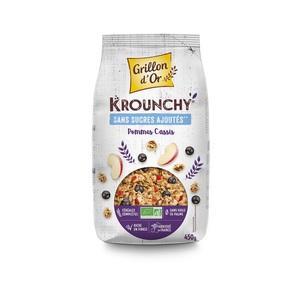 Céréales bio Krounchy pommes cassis - 450 g 726986