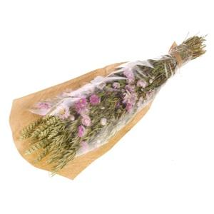 Bouquet de fleurs séchées violet/vert Ø 13 x H 50 cm 729955