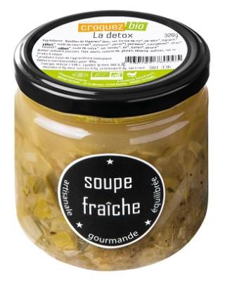 Soupe La Détox en bocal de verre Croquez Bio - 320 g 738680