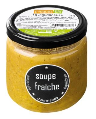 Soupe La Légumineuse en bocal de verre Croquez Bio - 320 g 738681