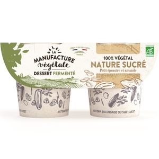 Brassé végétal petit épeautre et amande ature sucré La Manufacture Végétale - 2 x 115 g 738753