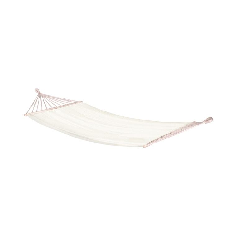 Hamac à barres simple blanc beach 300 x 140 cm 700493