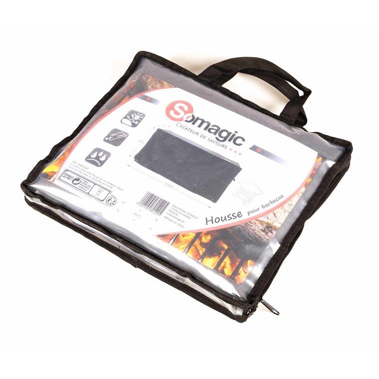 Housse de protection noire pour barbecue petit chef 120 x 62 X 80 cm 700512