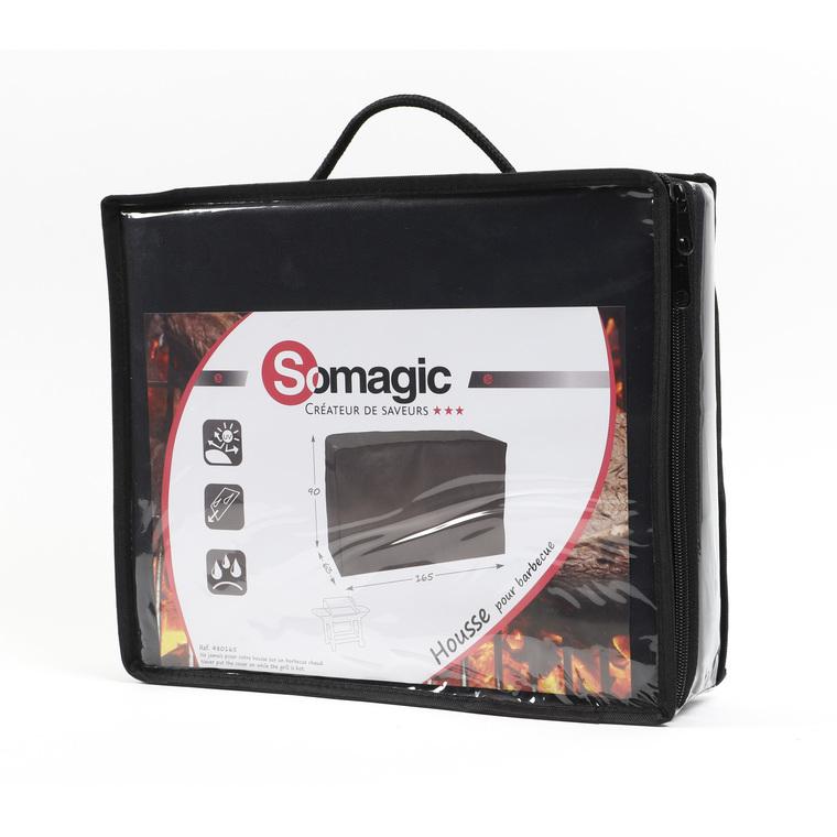 Housse de protection noire pour barbecue grand chef 165 x 63 X 90 cm 700513