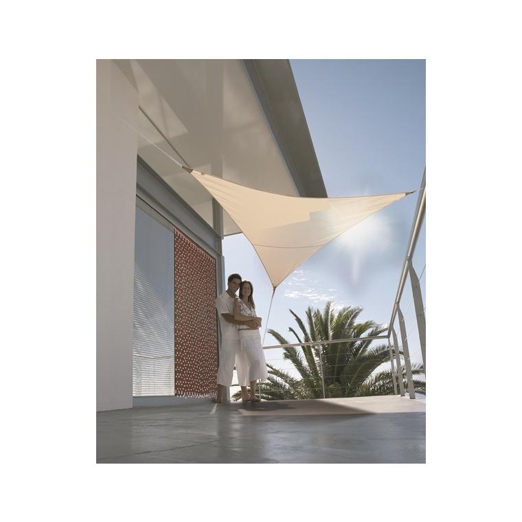 Voile d'ombrage triangulaire beige 3 m 700543