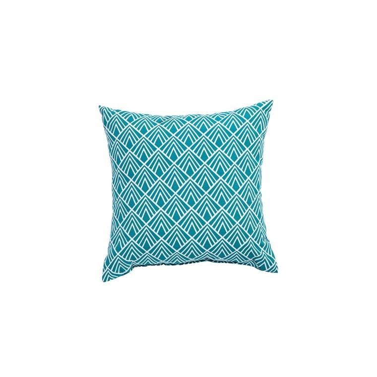 Coussin déco carré bleu Danemark 50 x 50 x 18 cm 700558