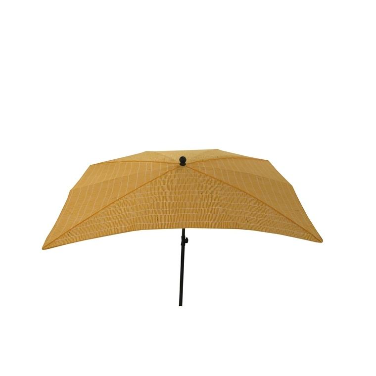 Parasol rectangulaire déco jaune 200 x 140 x 200 cm 700563