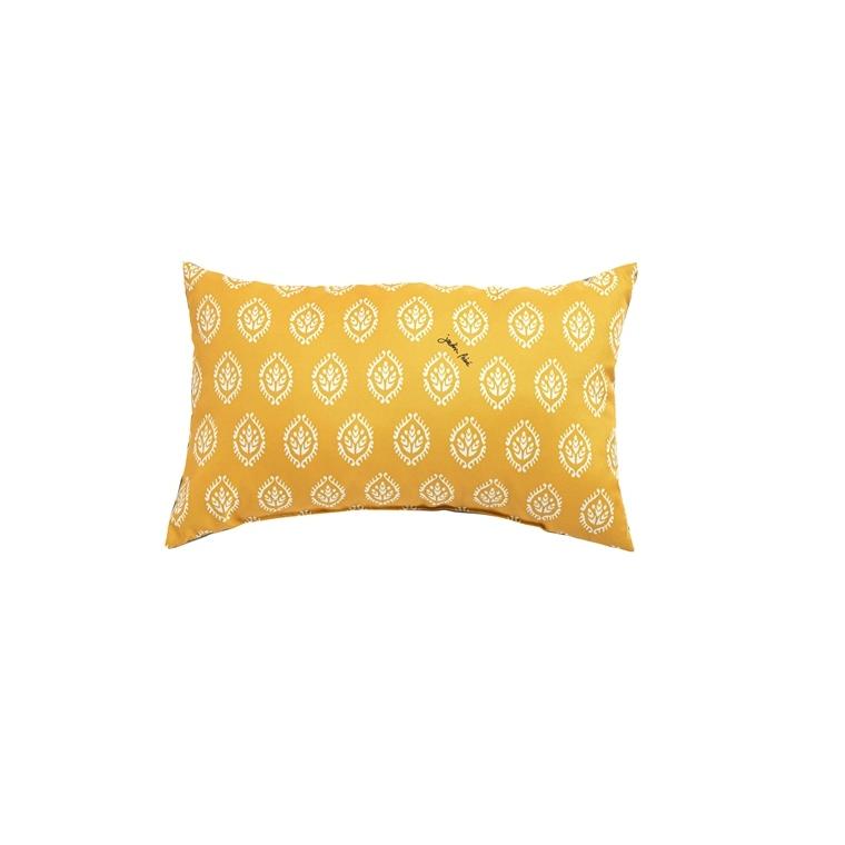 Coussin déco rectangulaire jaune 50 x 30 x 10 cm 700567
