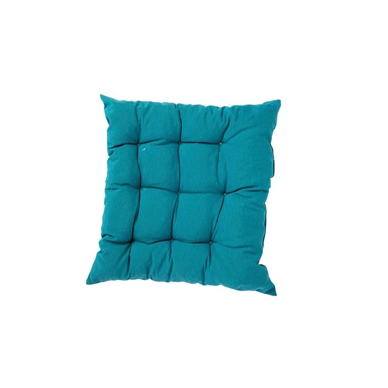 Coussin d'assise matelassé carré bleu 46 x 46 x 6 cm 700580