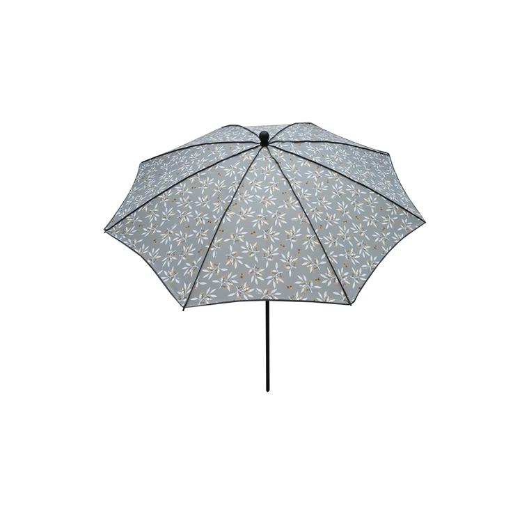 Parasol rond déco gris Ø 240 x h 200 cm 700602