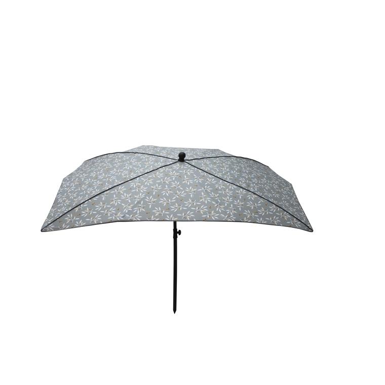 Parasol rectangulaire déco gris 200 x 140 x 200 cm 700603