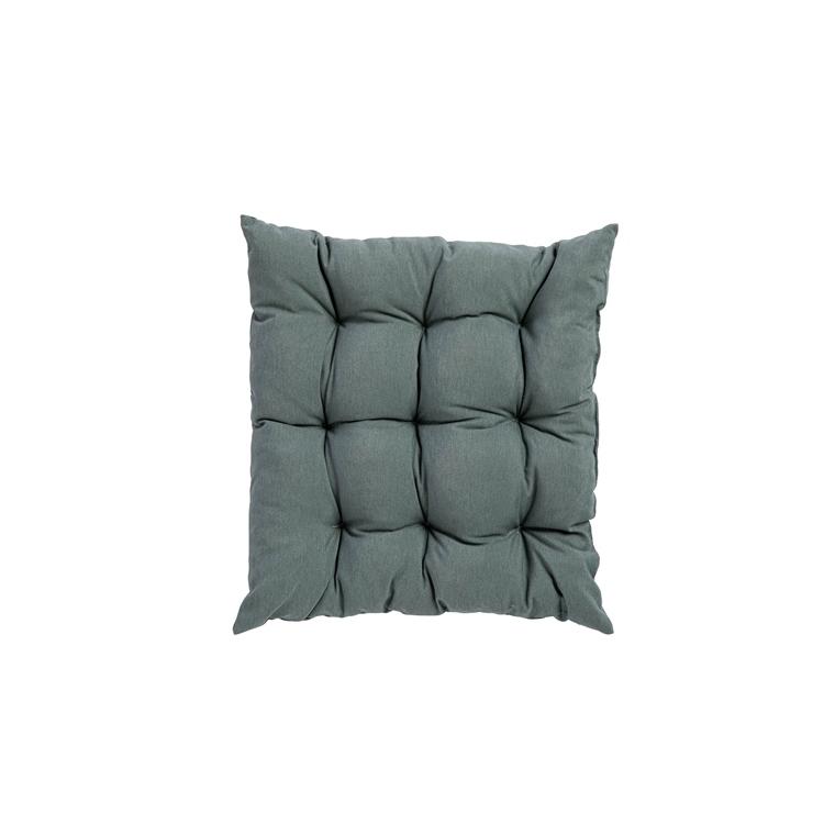 Coussin d'assise matelassé carré gris minéral 46 x 46 x 6 cm 700606