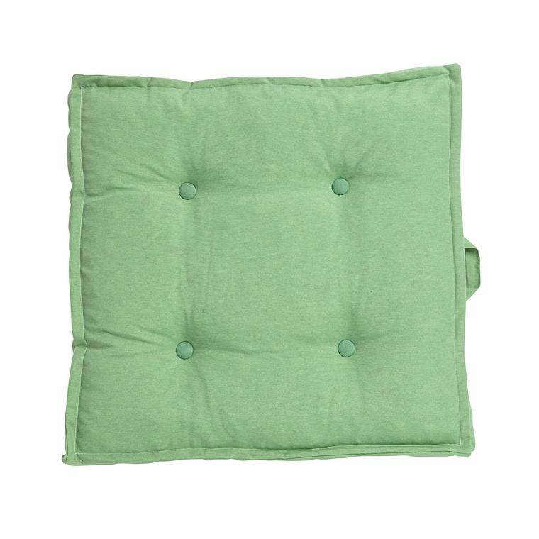Tatami carré uni vert céladon 66 x 66 x 15 cm 700617
