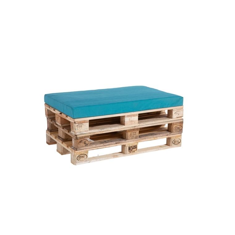 Coussin d'assise bleu pour palette 119 x 80 x 10 cm 700636