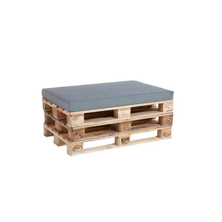 Coussin d'assise gris minéral pour palette 119 x 80 x 10 cm 700637
