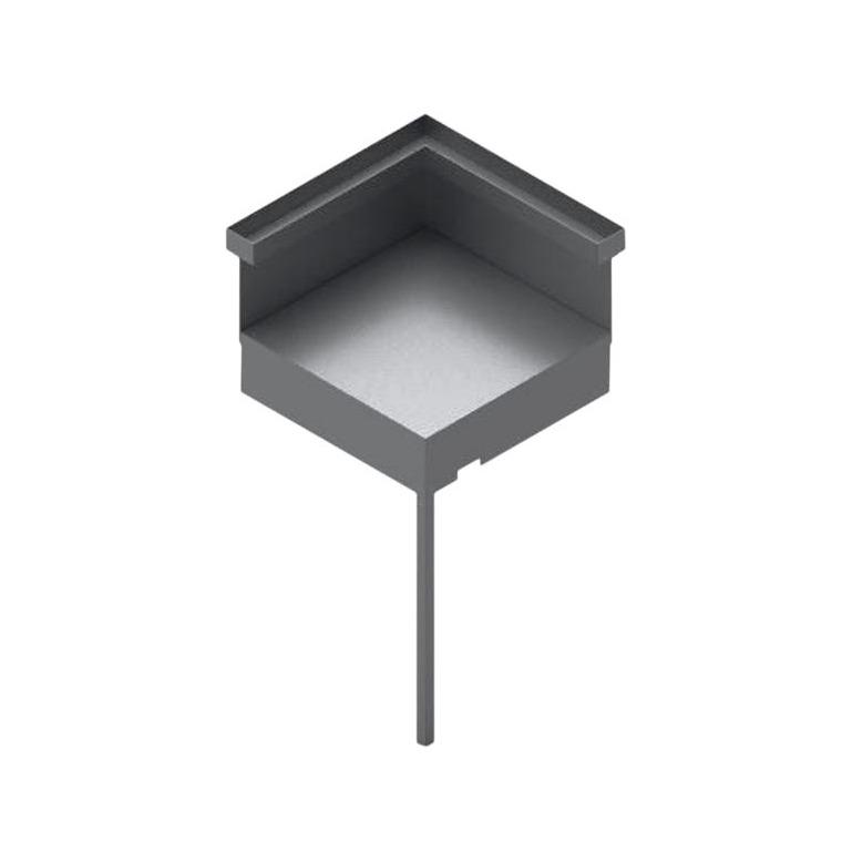 Support d'angle en acier noir et gris Forge Adour 64 x 64 x 43 cm 700693
