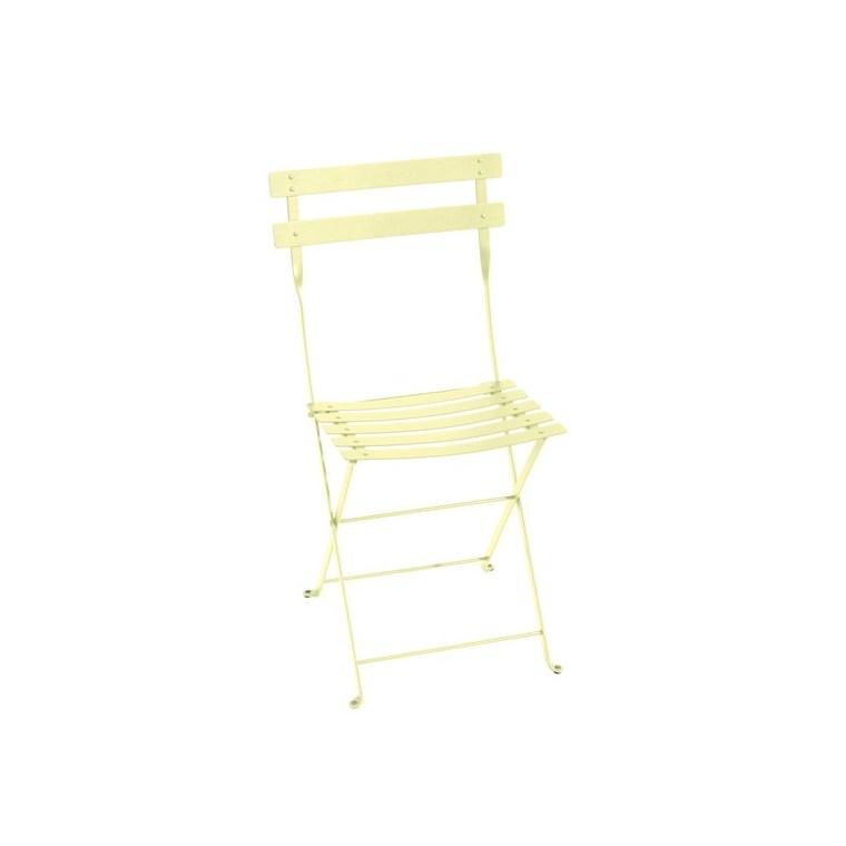 Chaise pliante Bistro jaune citron 38 x 40 x 82 cm 702349