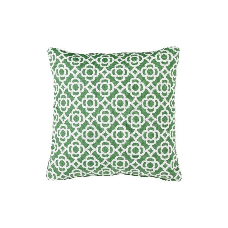 Coussin carré Lorette vert sauge 44 x 44 cm 702356