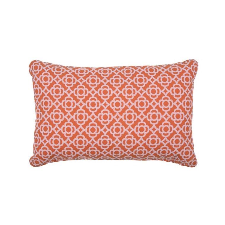 Coussin rectangulaire Lorette orange carotte 68 x 44 cm 702358