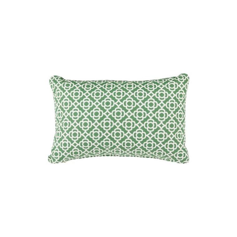 Coussin rectangulaire Lorette vert sauge 68 x 44 cm 702359
